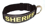 RedLine K9 Service Dog ID Collars - Includes 2 High Reflective ID Panels