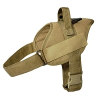 RedLine K9 Patrol Dog Harness Coyote Brown