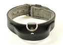 RedLine K9 LC1 Leather Dog Collars with Felt and Handle