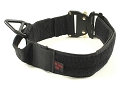 "RedLine K9 MaxTac 1.75"" Black Service ID collar with Metal Buckle"