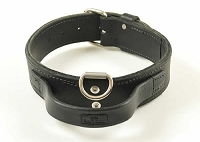 LC2 RedLine K9  Double Leather Collar with Handle