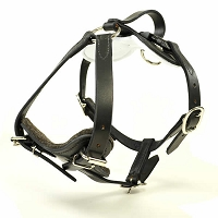 RedLine K9 Padded Leather Quick Release Protection and Tracking Harness