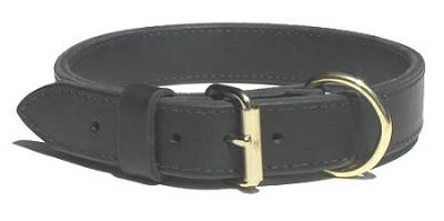 "1.25"" RedLine K9 Heavy Duty Leather Dog Collar"