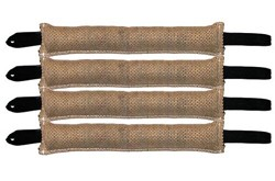 "Bundle of 4 - 4"" x 24"" 2 Handle Jute Tug Toy RedLine K9"