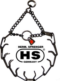 Sprenger Black Stainless Steel Prong Collar