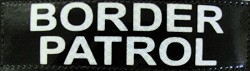 "High Reflective BORDER PATROL ID Badge 1.5"" X 6"""