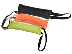 "Multi Color Tug Bundle 3"" x 10"" 1 handle, 1 black, 1 orange, 1 lime green"
