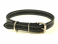 "1"" RedLine K9 Leather Dog Collar"