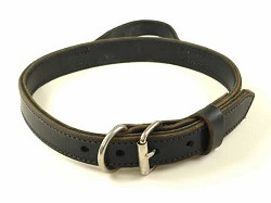 "1.25"" RedLine K9 Heavy Leather Dog Collars with Handle"