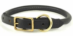 RedLine K9 Adjustable Rolled Leather Collar
