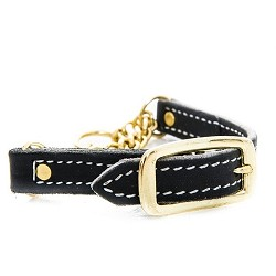 RedLine K9 Adjustable Leather Martingale Collar