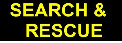 "Sale - Non Reflective ID Badge - SEARCH & RESCUE 2"" X 7"""