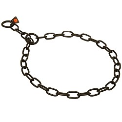 Herm Sprenger Black Fursaver Collar 4MM - Short Links