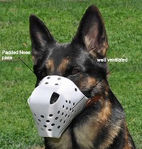 Plastic Dog Muzzle - White