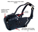 RedLine K9 DSG Leather Agitation / Police Dog Muzzle