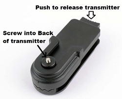 Educator Belt/Saddle/ Purse Quick-Release Transmitter Holder